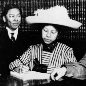 Clara_Elizabeth_Chan_Lee_voting_in_1911