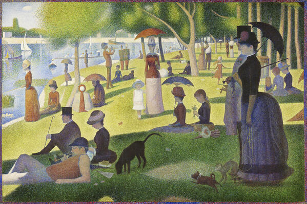 A Sunday on La Grande Jatte (1884) by Georges Seurat. Original from The Art Institute of Chicago. Digitally enhanced by rawpixel